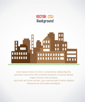 3D abstract vector illustration with buildings Vector Illustrations urban