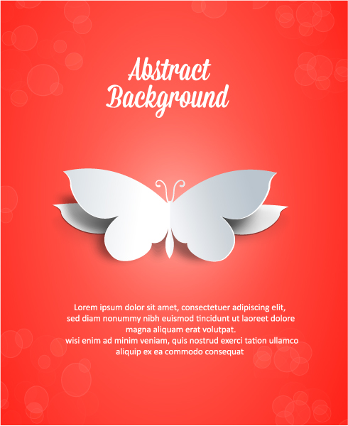 3D abstract vector illustration with butterflies Vector Illustrations urban