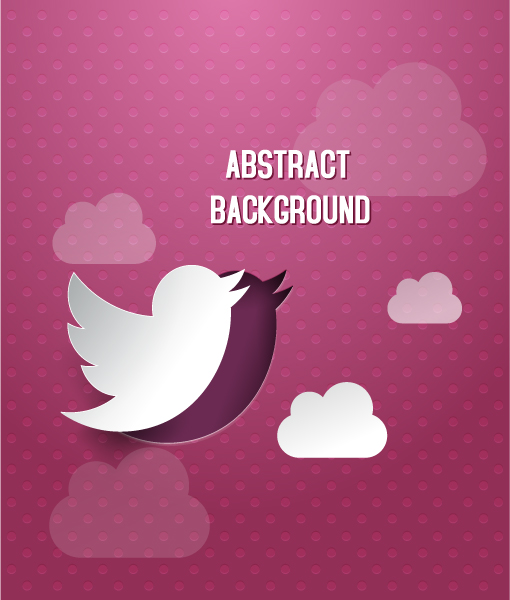 3D abstract vector illustration with bird and clouds Vector Illustrations urban
