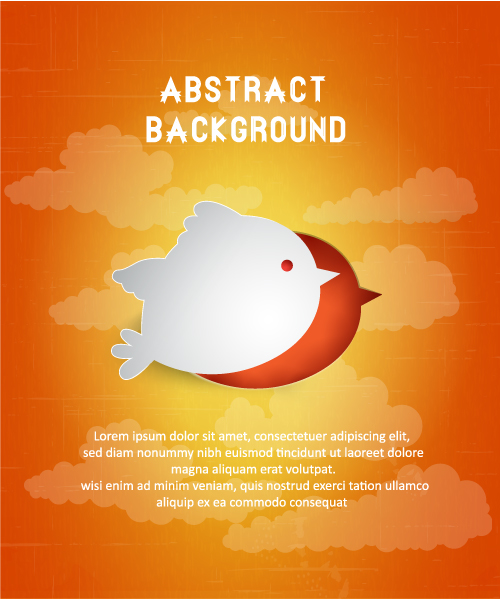 3D abstract vector illustration with bird 5