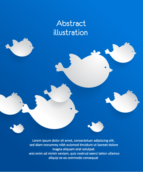 3D abstract vector illustration with bird Vector Illustrations urban