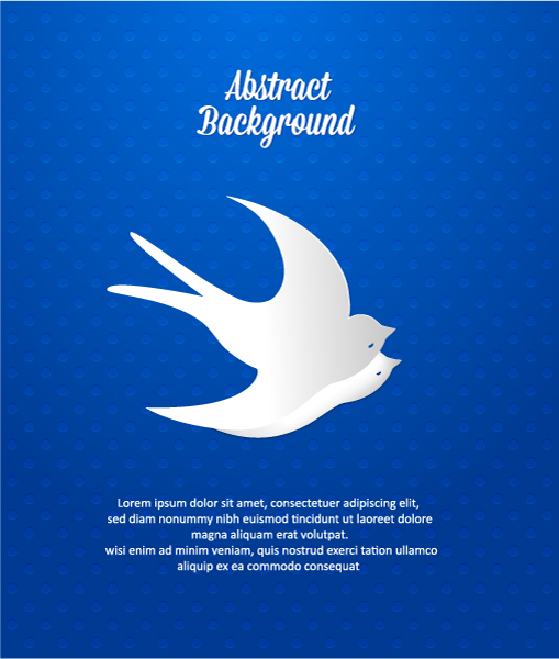3D abstract vector illustration with bird 2015 04 04 703