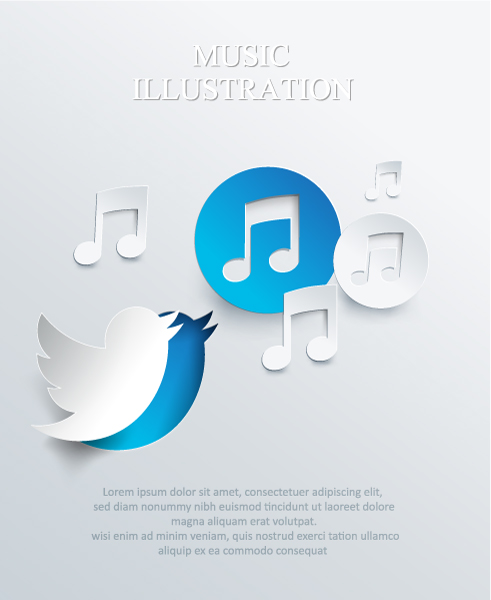 3D abstract vector illustration with paper bird Vector Illustrations urban