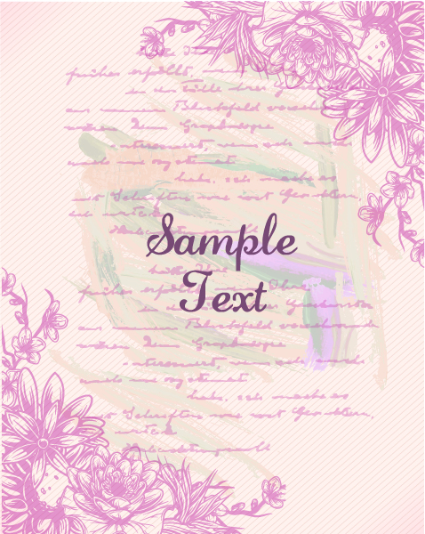 retro vector floral background with retro elements 5