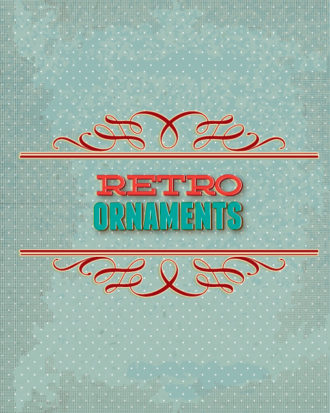 retro vector floral background with retro elements and ornaments Vector Illustrations summer