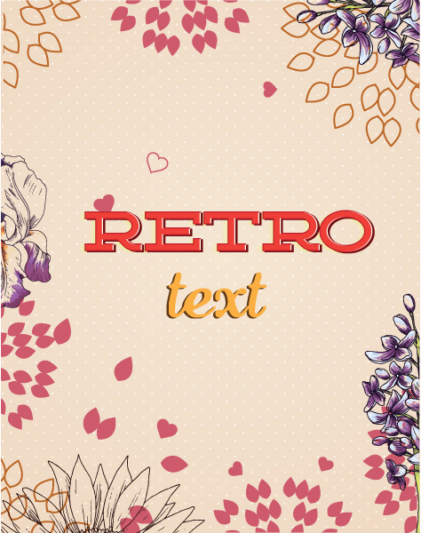 Striking Floral Vector Image: Retro Vector Image Floral Background With Flowers 5