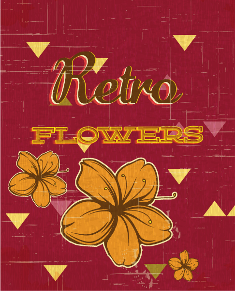 retro vector floral background with flowers 2015 04 04 750