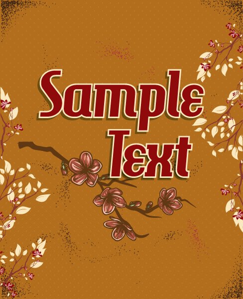 Gorgeous Holiday Vector: Retro Vector Floral Background With Retro Text, Spring Flowers 5