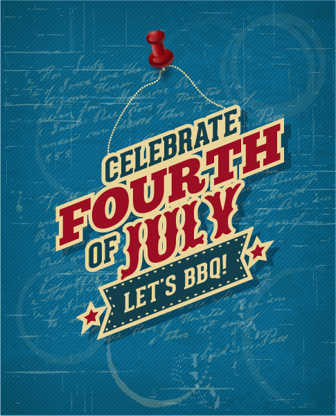 Buy Fourth Vector Background: Fourth Of July Vector Background Illustration 1