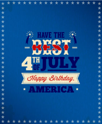 4th of July vector illustration with star and ribbon Vector Illustrations star