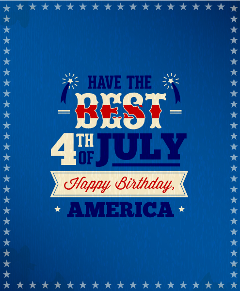 4th of July vector illustration with star and ribbon 2015 04 04 808