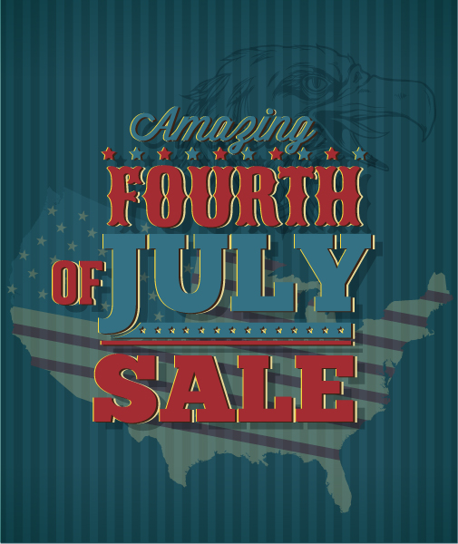 fourth of july vector illustration with usa map Vector Illustrations star