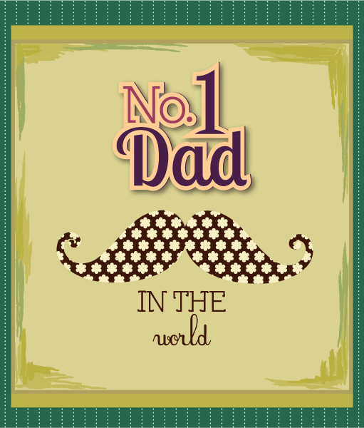 Father's Day vector illustration with vintage retro type font,moustache 2015 04 04 923