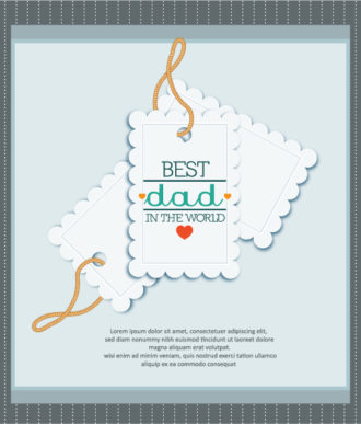 Father's Day vector illustration with vintage retro type font, sticker, tag Vector Illustrations old