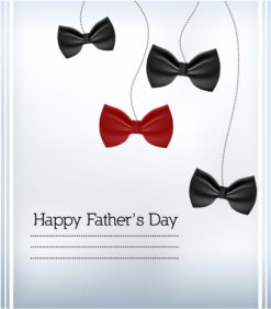 Father's Day vector illustration with vintage retro type font,bow Vector Illustrations old