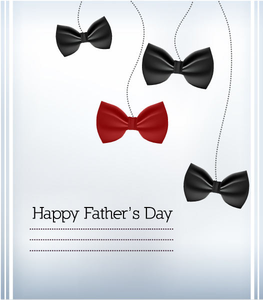 Father's Day vector illustration with vintage retro type font,bow 2015 04 04 933