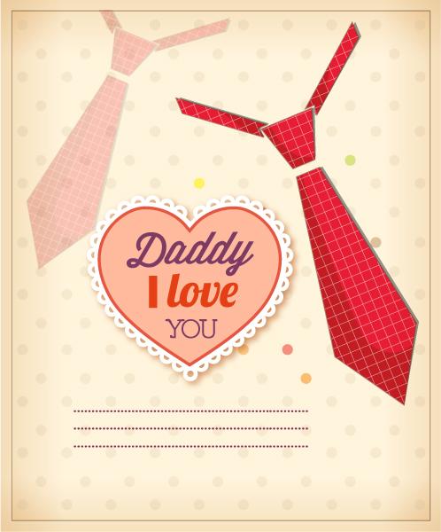 """fathers"", Vintage, Illustration, Type, Retro Vector Fathers Day Vector Illustration  Vintage Retro Type Font, Heart, Tie 1"