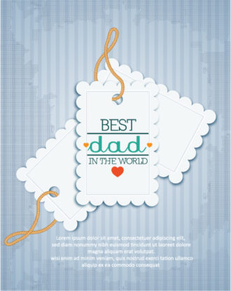 Father's Day vector illustration with vintage retro type font, sticker, tag, Vector Illustrations old