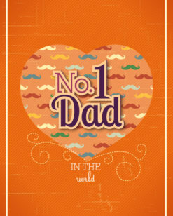 Father's Day vector illustration with vintage retro type font,heart Vector Illustrations old