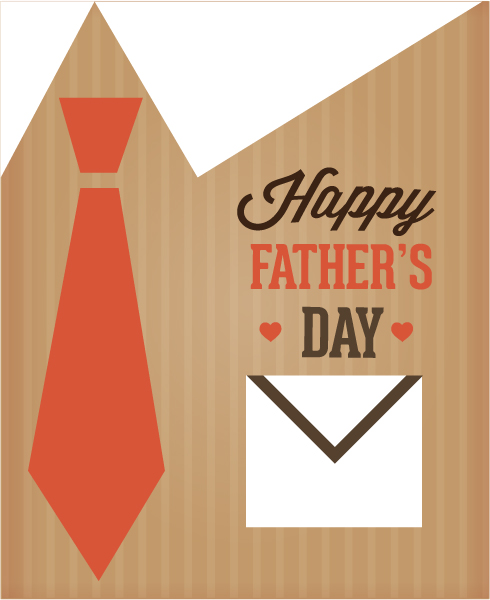 Father's Day vector illustration with vintage retro type font,pocket, tie 2015 04 04 950