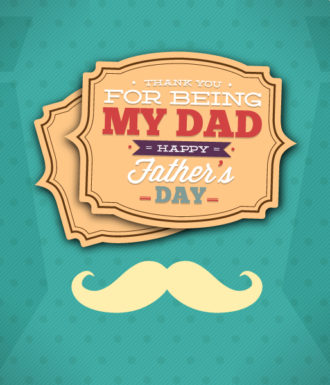 Father's Day vector illustration with vintage retro type font, moustache,frame, Vector Illustrations old