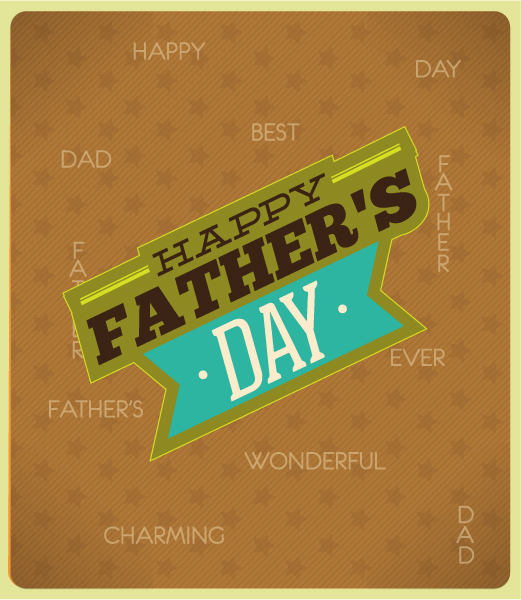 Father's Day vector illustration with vintage retro type font, 2015 04 04 959