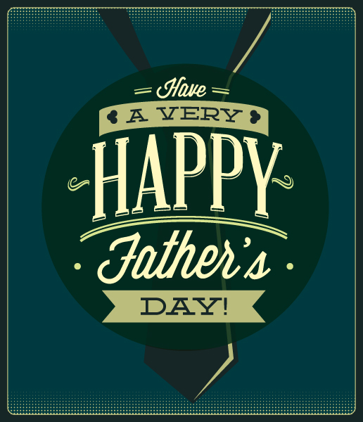Father's Day vector illustration with vintage retro type font, 2015 04 04 962