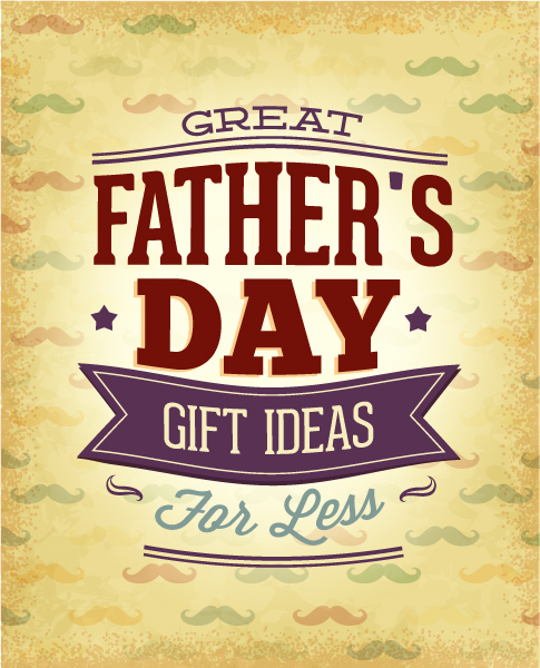 Father's Day vector illustration with vintage retro type font, 2015 04 04 965