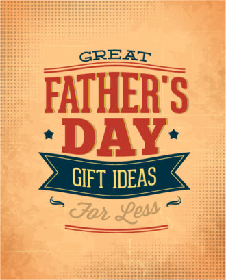 Father's Day vector illustration with vintage retro type font,ribbon Vector Illustrations old