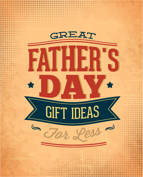 Father's Day vector illustration with vintage retro type font,ribbon 2015 04 04 973