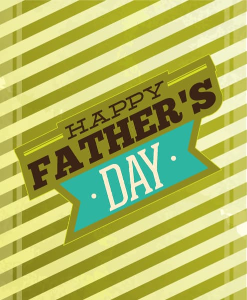 Father's Day vector illustration with vintage retro type font, 2015 04 04 983