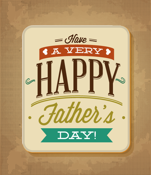 Father's Day vector illustration with vintage retro type font and card 2015 04 04 986
