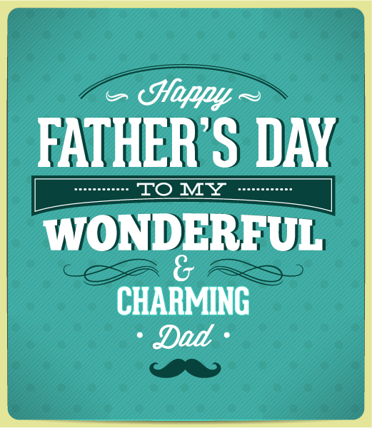 Father's Day vector illustration with vintage retro type font 2015 04 04 988