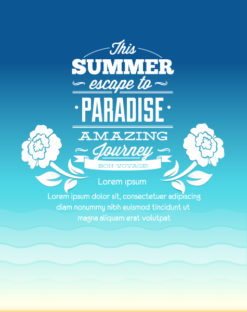 Summer Vector  Illustration with flower Vector Illustrations palm