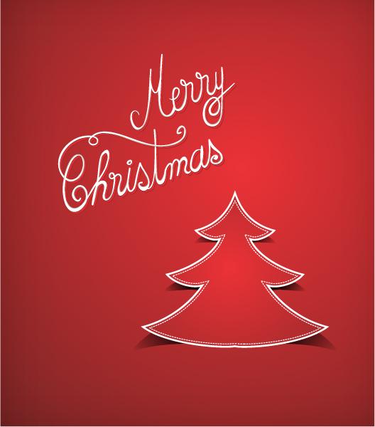 Smashing Christmas Vector Illustration: Christmas Vector Illustration Illustration With Christmas Tree Sticker 2015 05 05 002