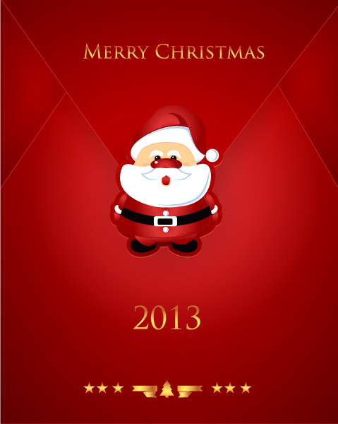 Santa Vector Graphic Christmas Vector Illustration  Santa Sticker 2015 05 05 003