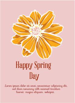Spring  Vector illustration with flower Vector Illustrations vector