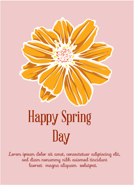 Spring  Vector illustration with flower Vector Illustrations vector