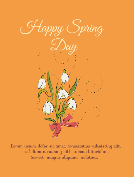 Vector Eps Vector Spring  Vector Illustration  Flowers 1