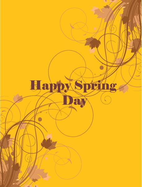 Striking Flowers Vector Background: Spring  Vector Background Illustration With Flowers 1