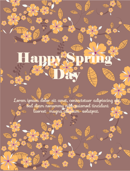 Illustration Eps Vector: Spring  Eps Vector Illustration With Flowers 1