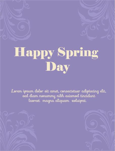 Spring, Illustration Vector Illustration Spring  Vector Illustration  Flowers 1