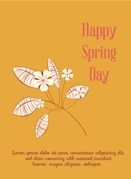 Unique Stylish Vector Image: Spring  Vector Image Illustration With Flowers 1