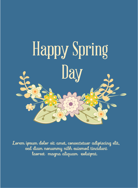 Exciting Vector Vector: Spring  Vector Illustration With Flowers 1