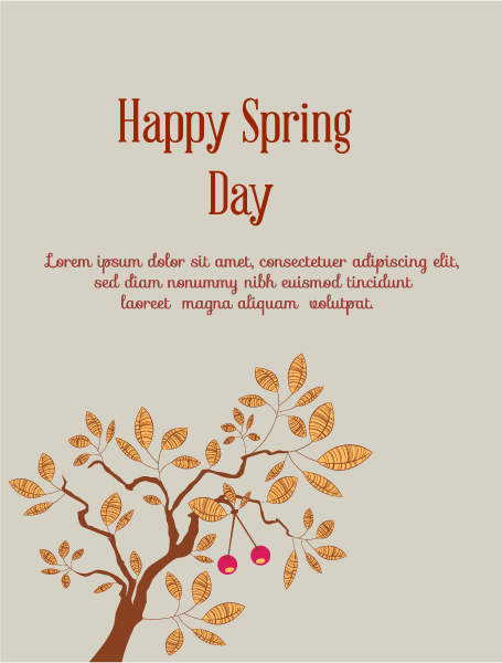 Flowers Vector Artwork: Spring  Vector Artwork Illustration With Flowers 1
