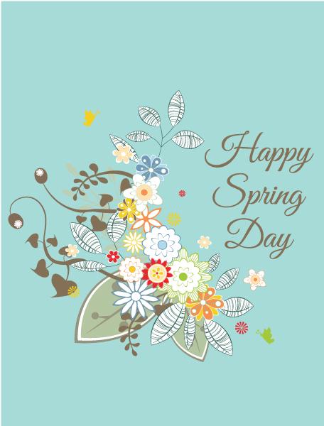 Vector Vector Artwork: Spring  Vector Artwork Illustration With Flowers 1