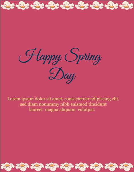 Spring Eps Vector Spring  Vector Illustration  Flowers 1