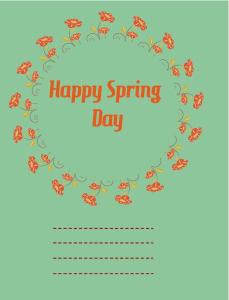 Trendy Illustration Vector Design: Spring  Vector Design Illustration With Flowers 1