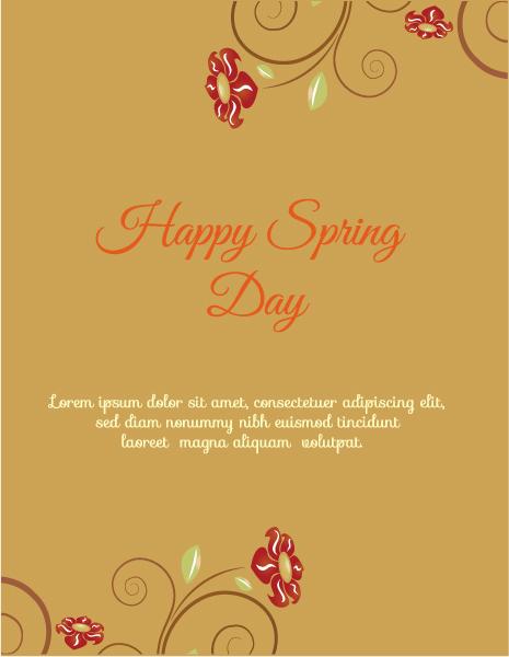 Striking Illustration Vector Design: Spring  Vector Design Illustration With Flowers 1