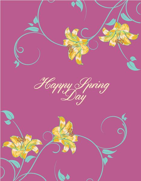 Illustration Vector Art Spring  Vector Illustration  Flowers 1